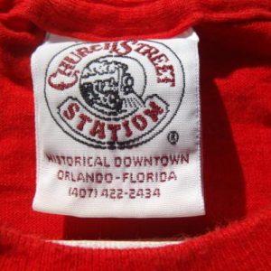 Vintage 1990s Church Street Station Red Souvenir T-Shirt M