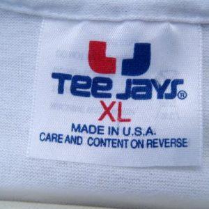 Vintage 1990s Texas Armadillos Novelty White T Shirt L