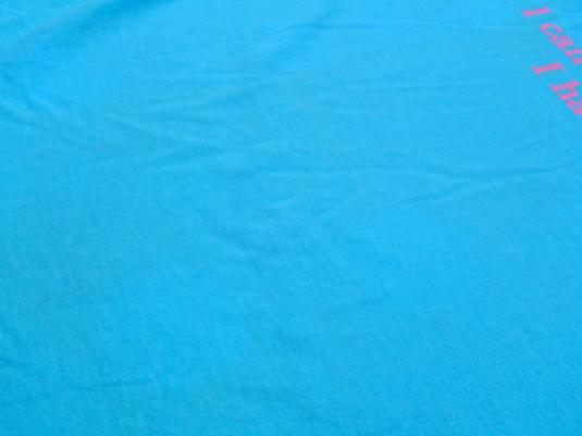 Vintage 1980s Light Blue Funny Crisis Child Parent T-Shirt L