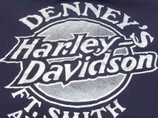 Vintage 1980s Black Harley Davison Ft Smith Arkansas Pocket