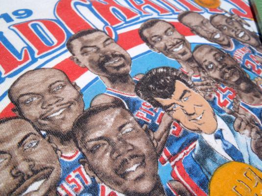 Vintage 1989 White Detroit Pistons NBA Finals T Shirt L