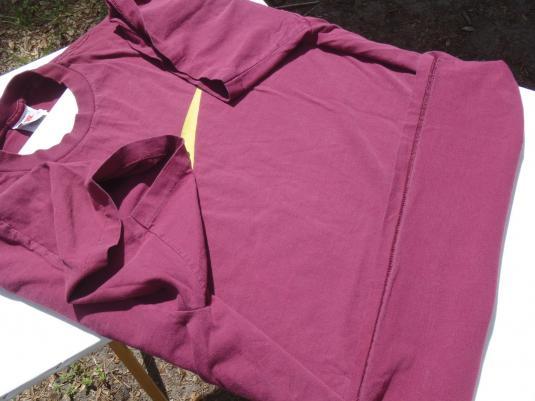 Vintage 1990s Garnet Gold FSU Nike Logo Cotton T-Shirt XXL