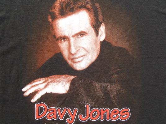 Vintage 1998 Davy Jones Concert Tour Black Cotton T Shirt XL