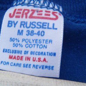 Vintage 1980s Angelfish Scuba Dive Florida Blue T-Shirt M