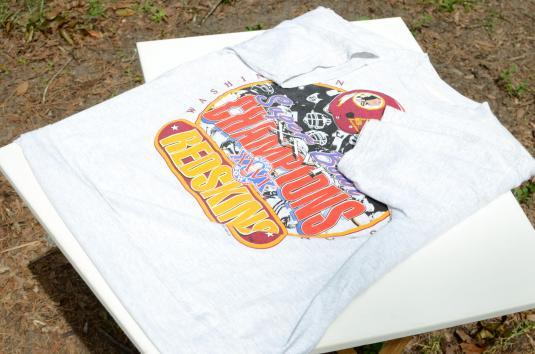 Vintage 1992 Washington DC Superbowl XXVI Gray T Shirt L