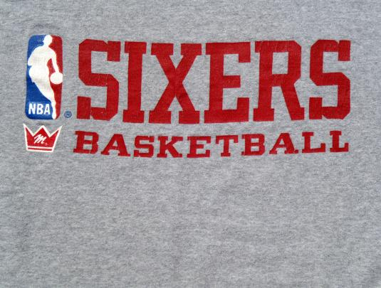 Vintage 1980s Philadelphia '76ers NBA Rayon Blend T Shirt XL