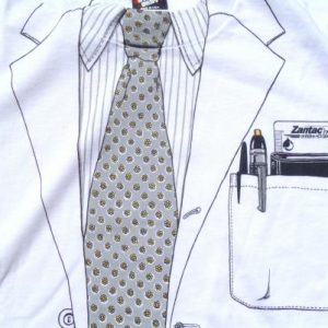 Vintage 1980s Zantac Doctors Lab Coat White T-Shirt XL