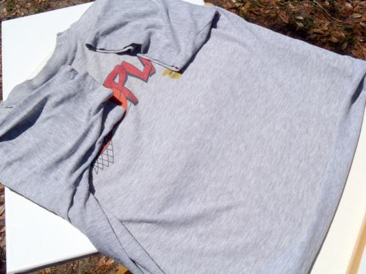 Vintage 1980s Heather Gray Chicago Bulls Lottery T Shirt XL