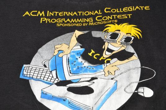 Vintage 1996 ACM Computer Programming T-Shirt L