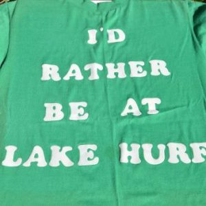 Vintage 1970s I'd Rather Be At Lake Hurff T-Shirt M