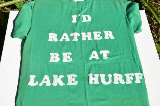 Vintage 1970s I'd Rather Be At Lake Hurff T-Shirt M