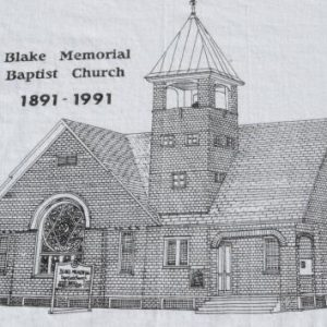 Vintage 1991 Blake Memorial Baptist Church White T Shirt XL