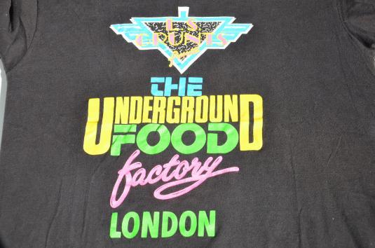 Vintage 1980s Underground Food Factory Souvenir T-Shirt M