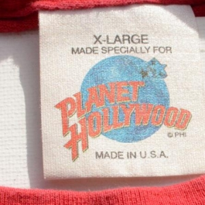 Vintage 1990s Planet Hollywood WDW Red Souvenir T-Shirt