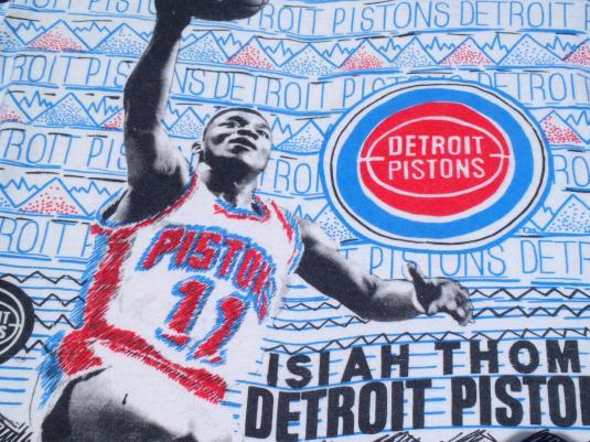 Vintage 1990s White Detroit Pistons NBA Isiah Thomas T Shirt