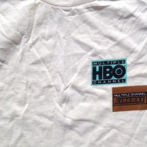 Vintage 1990s HBO Cinemax Beige T-Shirt XL
