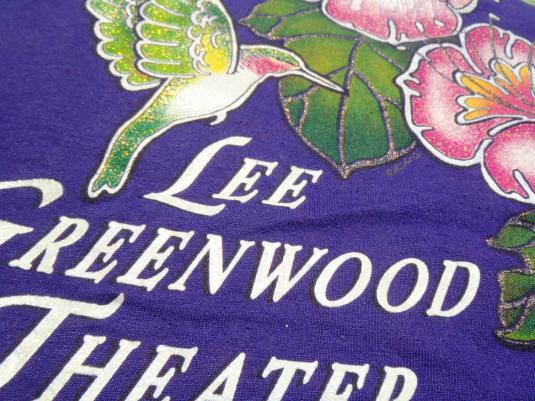 Vintage 1990s Lee Greenwood Theatre Purple T Shirt L