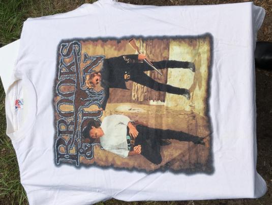 Vintage 1996 Brooks & Dunn Borderline Concert Tour T Shirt L