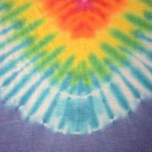 Vintage 1980s Multicolor Tie Dyed Cotton T-Shirt M/L