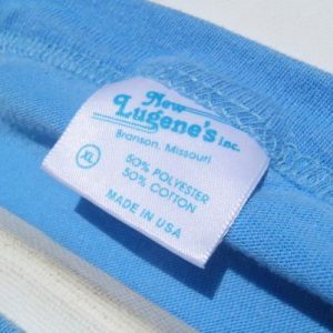 Vintage 1980s Opryland Light Blue Muscle Sleeveless T-Shirt