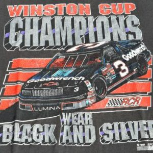 "Vintage 1994 Earnhardt ""Champions Wear Black"" T-Shirt XL"