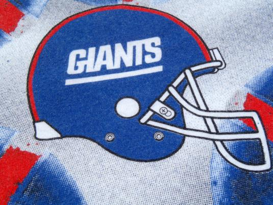 Vintage 1990s White New York Giants Huddle Cotton T Shirt XL