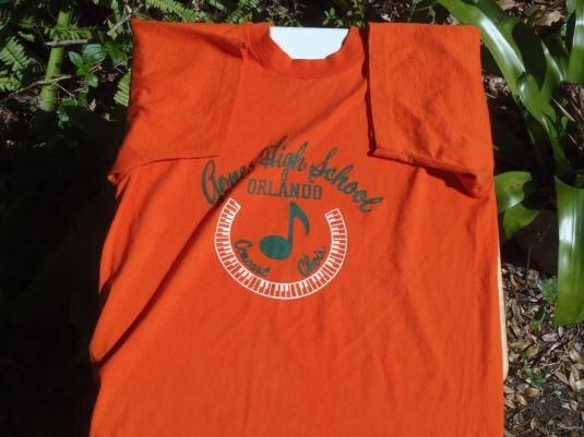 Vintage 1980s Jones High School Concert Chorus T Shirt M/L