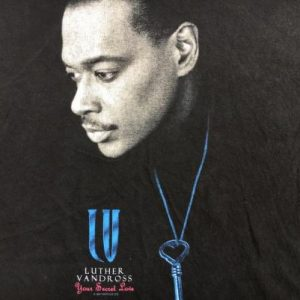 Vintage 1990s Luther Vandross Concert T-Shirt XL