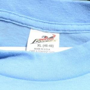 Vintage 1980s Surf Iowa Pig Light Blue T-Shirt XL