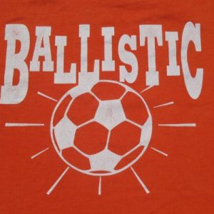Vintage 1990s Orange Soccer T Shirt L/XL