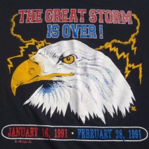 Vintage 1991 Desert Storm Eagle T-Shirt L
