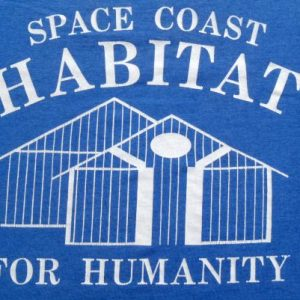 Vintage 1980s Space Coast Habitat For Humanity T-Shirt M/S