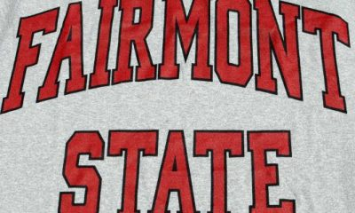 Vintage 1980s Fairmont State Gray Rayon Blend T Shirt L