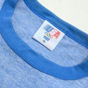 Vintage 1980s Olympics Heather Blue Rayon Blend T-Shirt S