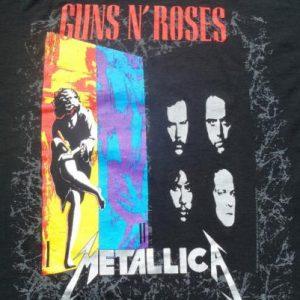 Vintage 1992 Guns N Roses Metallica Concert Tour T-Shirt
