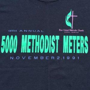 Vintage 1990s 5000 Methodist Meters Black T-Shirt L