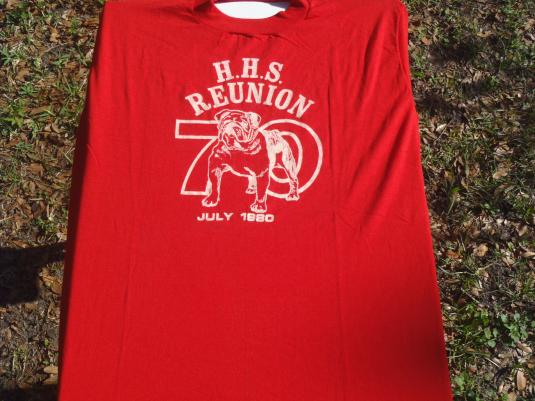 Vintage 1980 Hillsborough High School Reunion T-Shirt L