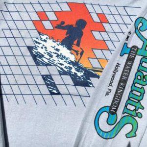 Vintage 1980s Atlantis Hollywood Florida Long Sleeve T-Shirt
