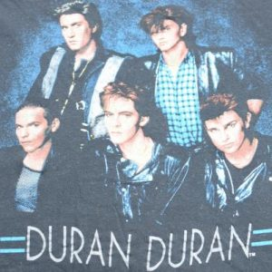 Vintage 1980s Duran Duran New Wave Black T Shirt S/M