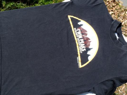 Vintage 1990s Twin Peaks Black T-Shirt M Stedman David Lynch