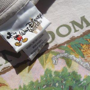 Vintage 1998 Disney Animal Kingdom Opening Beige T Shirt L