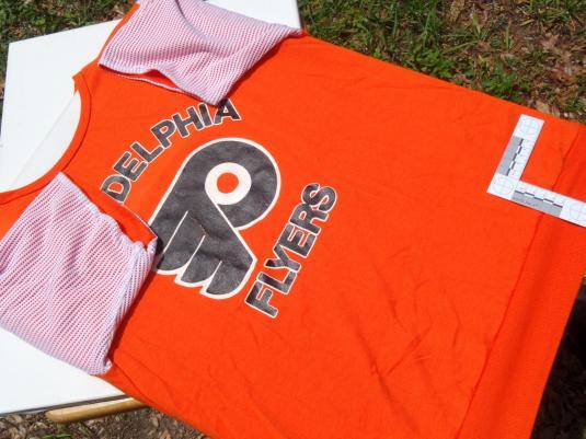 Vintage 1980s Orange Philadelphia Flyers Jersey T Shirt L/XL