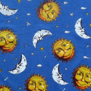 Vintage 1980s Sun and Moon Blue Graphic T Shirt L