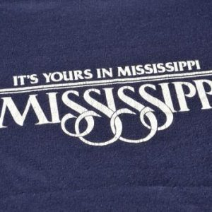"1980s ""Its Yours In MIssissippi"" Souvenir Vintage T-Shirt"