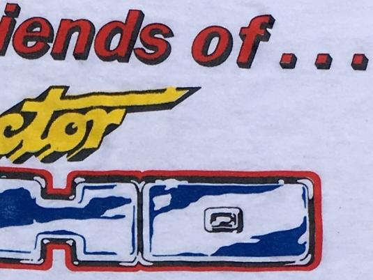 Vintage 1990s Friends of Doctor Who Fan Club White T-Shirt S