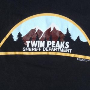 Vintage 1990s Twin Peaks Black T-Shirt M Stedman David Lynch