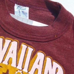 Vintage 1980s Burgundy Hawaiian Tropic Suntan Lotion T Shirt XS