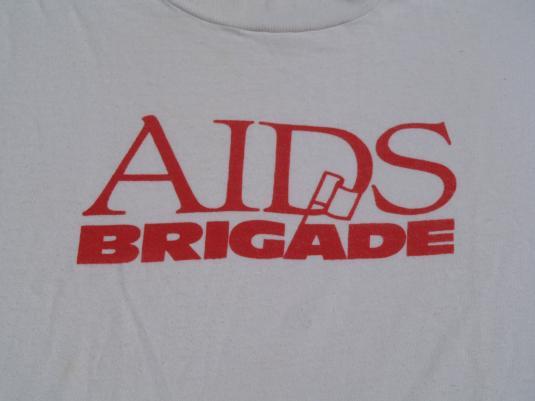 Vintage 1980s AIDS Brigade T-Shirt XL