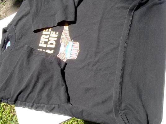 Vintage 1990s Easy Riders Live Free or Die Black T-Shirt XL
