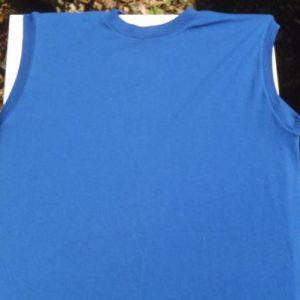 Vintage 1980s Blue Muscle Shirt L